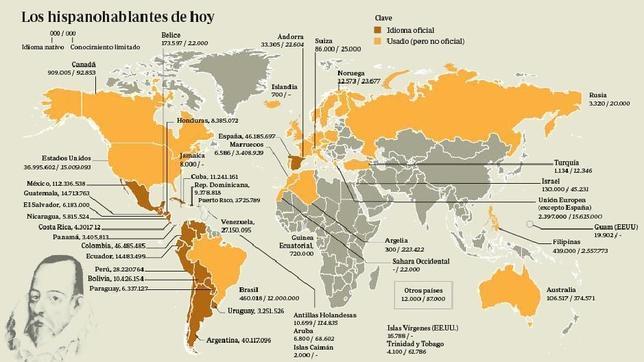 """Résultat de recherche d'images pour """"mapa del idioma espanol"""""""