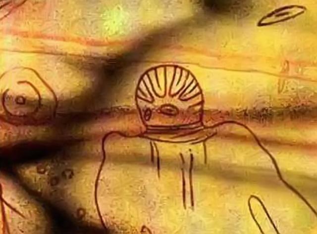 Ellos estuvieron antes en la Tierra. ¿Y si nosotros fuésemos sus herederos? Hace 8000 años, pintura rupestre, Tassili, Argelia, África del Norte