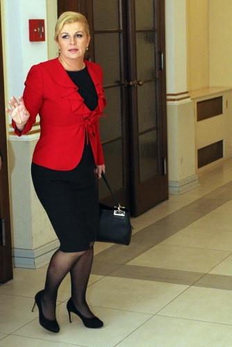 22.11.2014., Varazdin - Obljetnici Zajednice zena Katarina Zrinski prisustvovala je i predsjednicka kandidatkinja HDZ-a Kolinda Grabar Kitarovic. Photo: Vjeran Zganec-Rogulja/PIXSELL