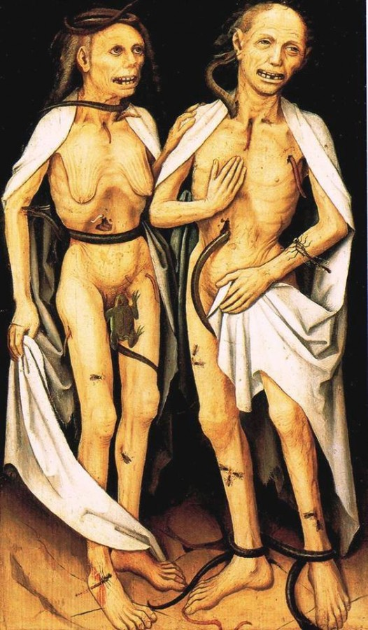 Amantes muertos.Maestro Alta Rin Siglo XVI