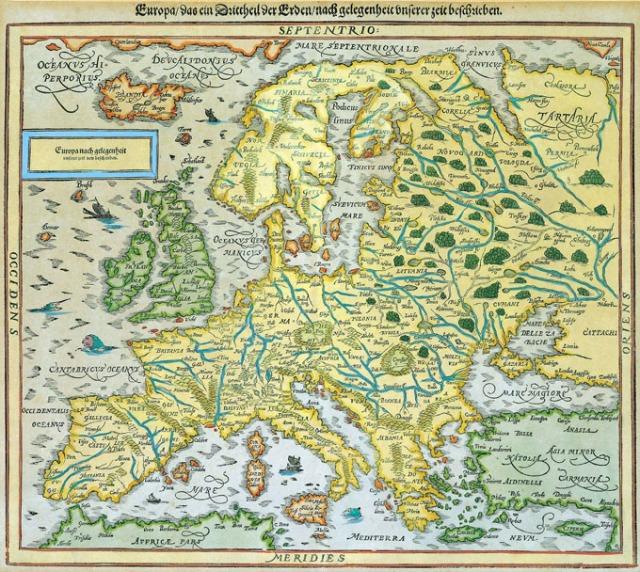 La Europa de Mercator, siglo XVI