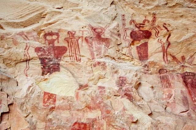 Pinturas rupestres Sega Canyon, Utah, EEUU unos 5.500 antes de Cristo.