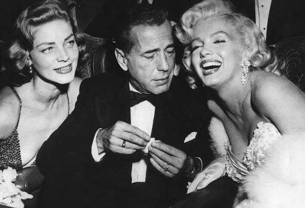 Lauren Bacall, H.Bogart, MM