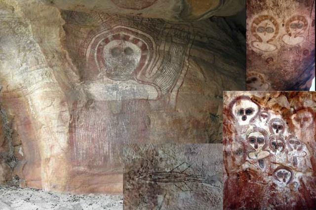 Se trata de una pintura rupestre de una cueva en Japón se remonta a más de 5.000 años antes de Cristo