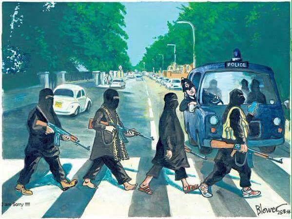 yihadistas en abbey-road